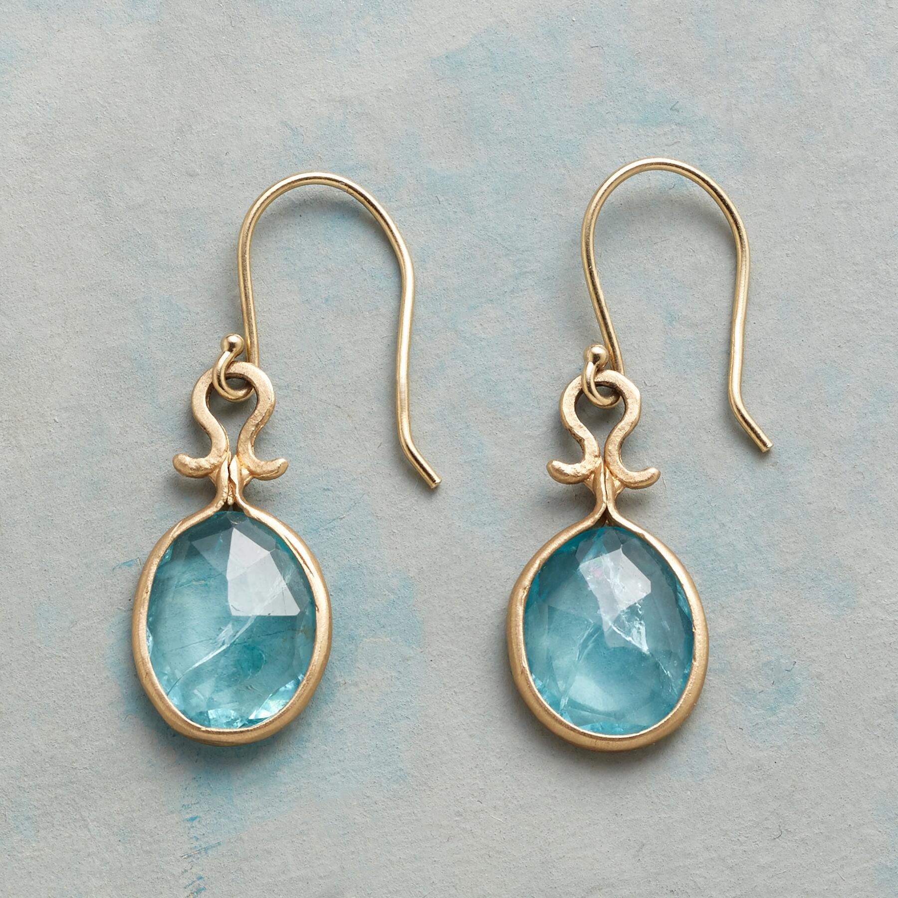 DROPS OF APATITE EARRINGS: View 1