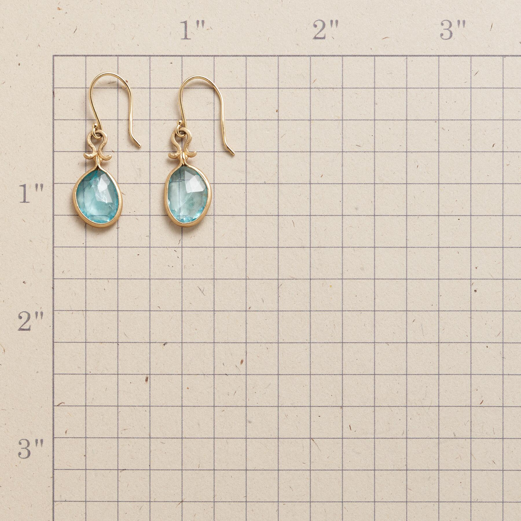 DROPS OF APATITE EARRINGS: View 2