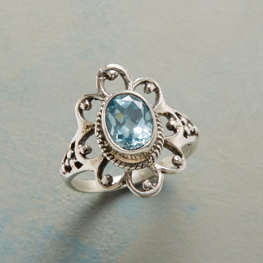BLUE PEONY RING