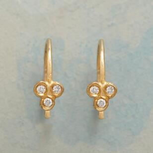 DIAMOND TREFOIL EARRINGS