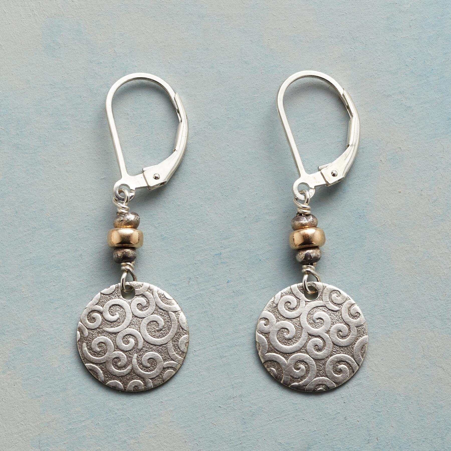 CURLS & SWIRLS EARRINGS: View 1