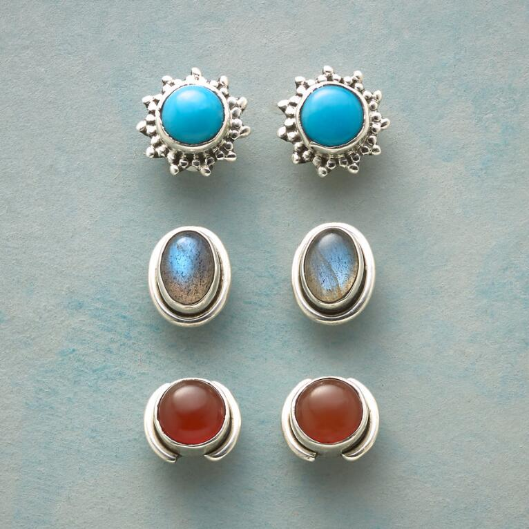 DAWN TO DUSK EARRINGS, SET OF 3