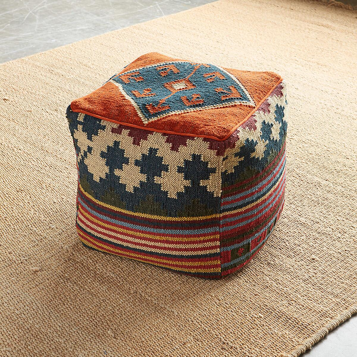 new product 860c9 02dcb Lightweight Wool/Cotton Pouf | Robert Redford's Sundance Catalog