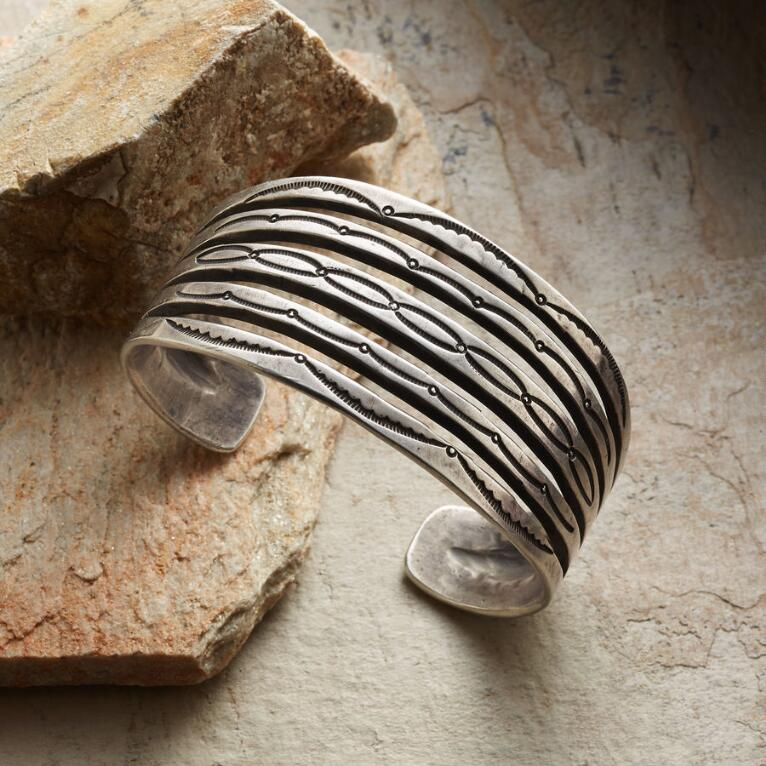 CONTEMPORARY FIVE WIRE STERLING CUFF