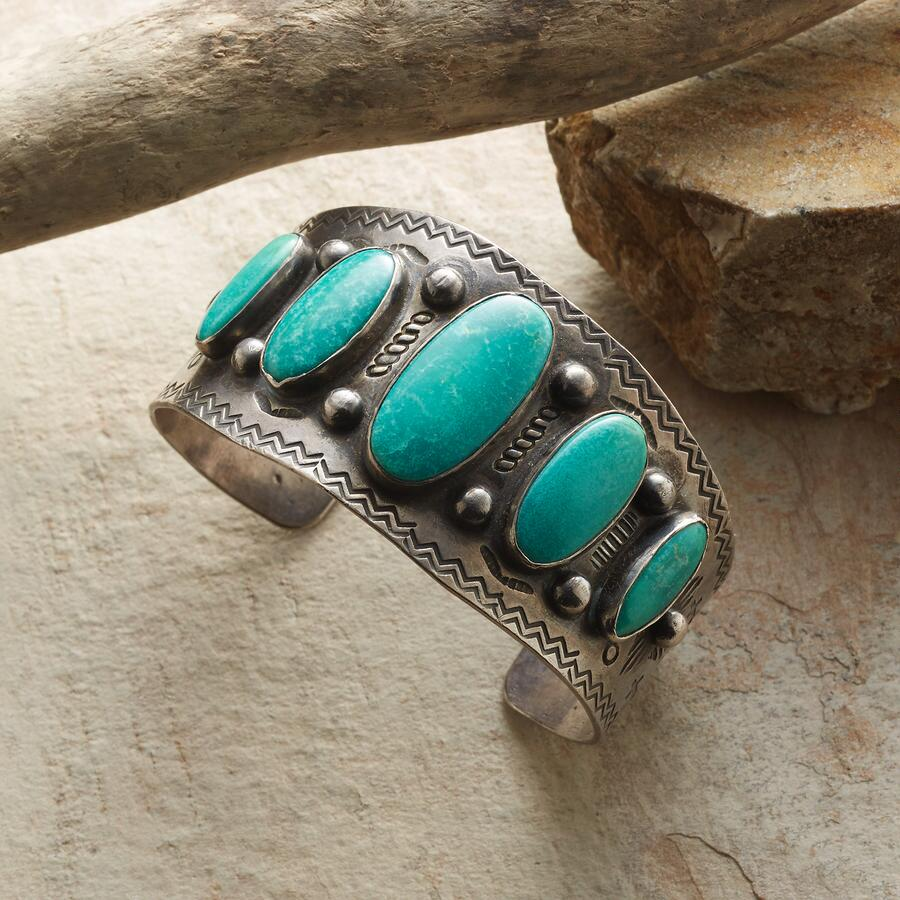 FIVE POOLS VINTAGE TURQUOISE CUFF