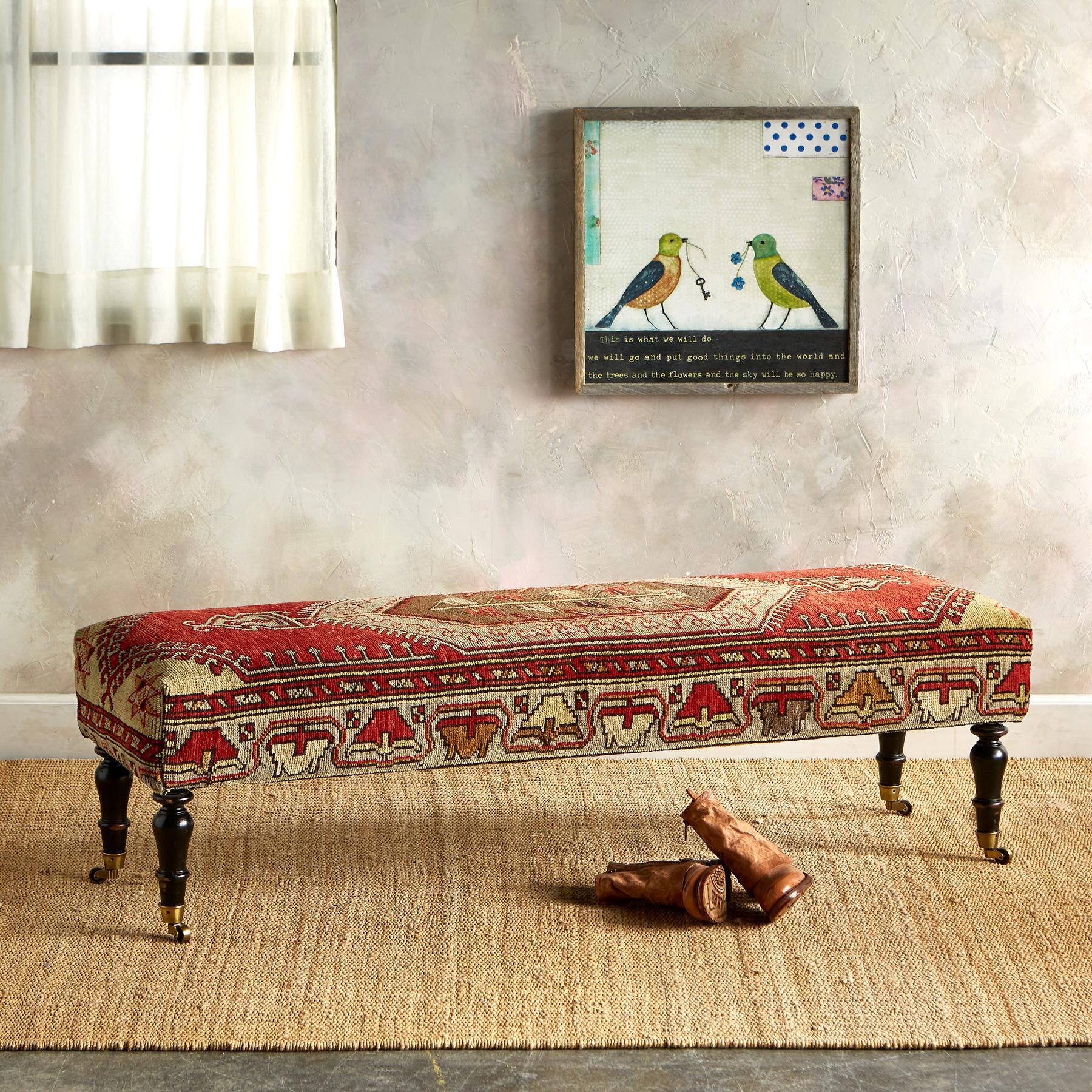 KONYA TURKISH CARPET BENCH: View 1