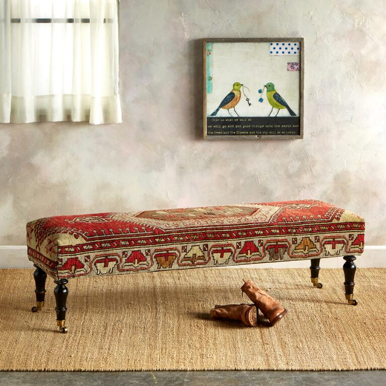 KONYA TURKISH CARPET BENCH