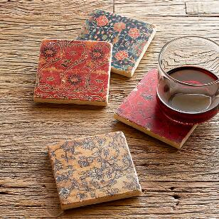 GLOBAL BEAUTY COASTERS, SET OF 4