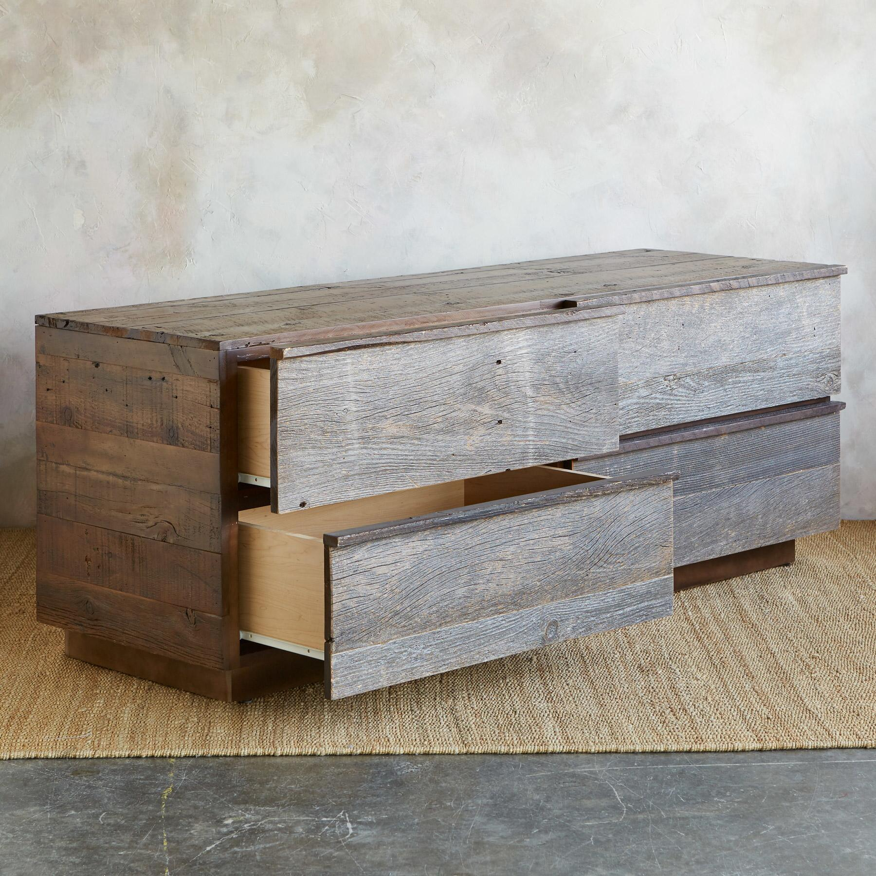 WEATHERED BARNWOOD LOW DRESSER: View 2