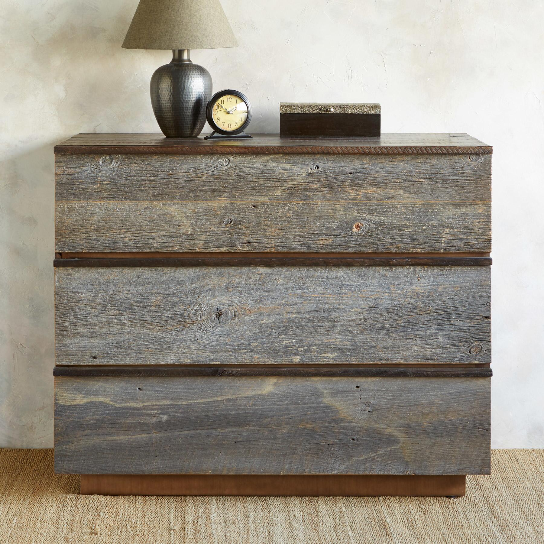 WEATHERED BARNWOOD HIGH DRESSER: View 1