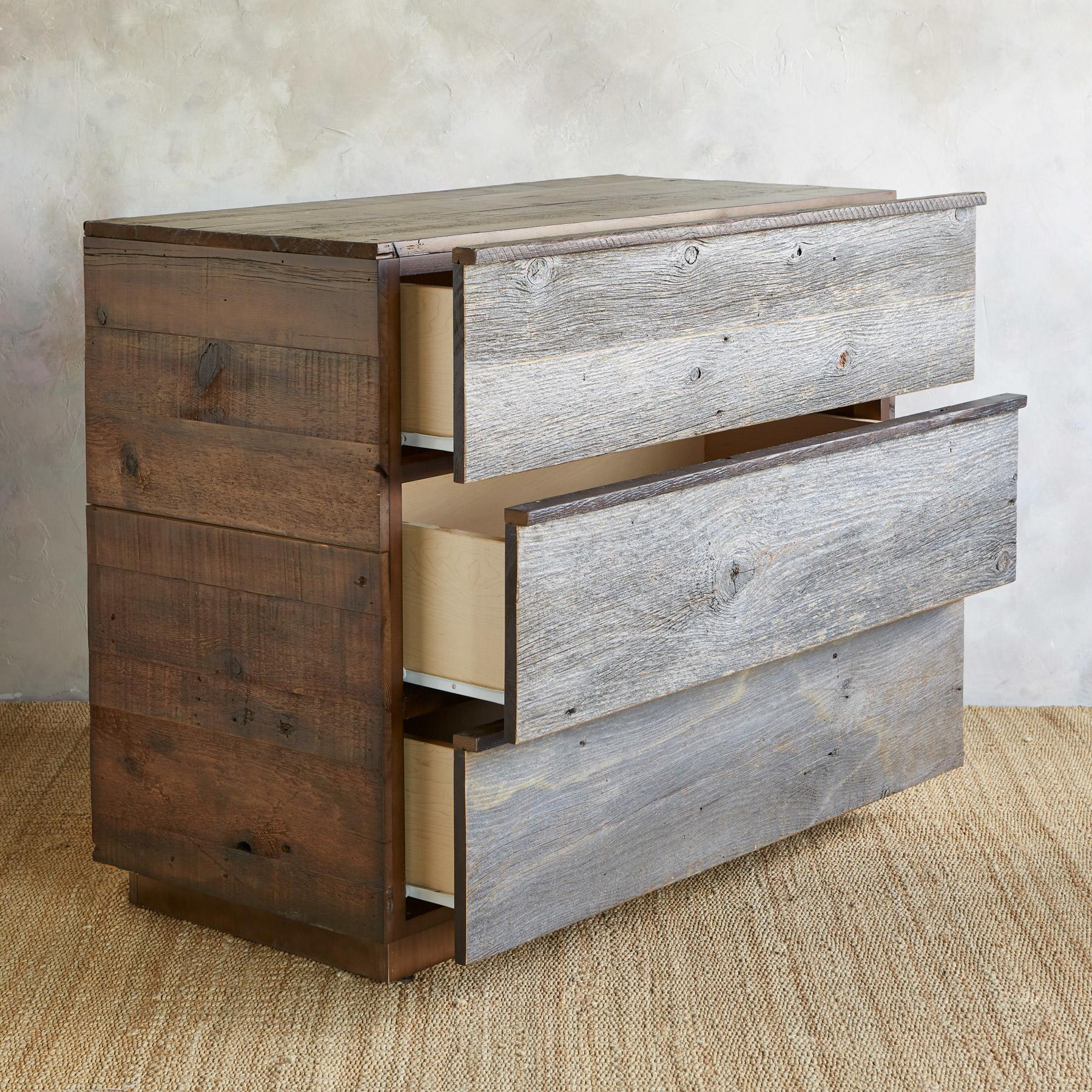 WEATHERED BARNWOOD HIGH DRESSER: View 2
