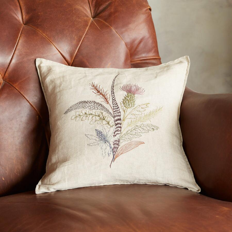 FEATHER & THISTLE PILLOW