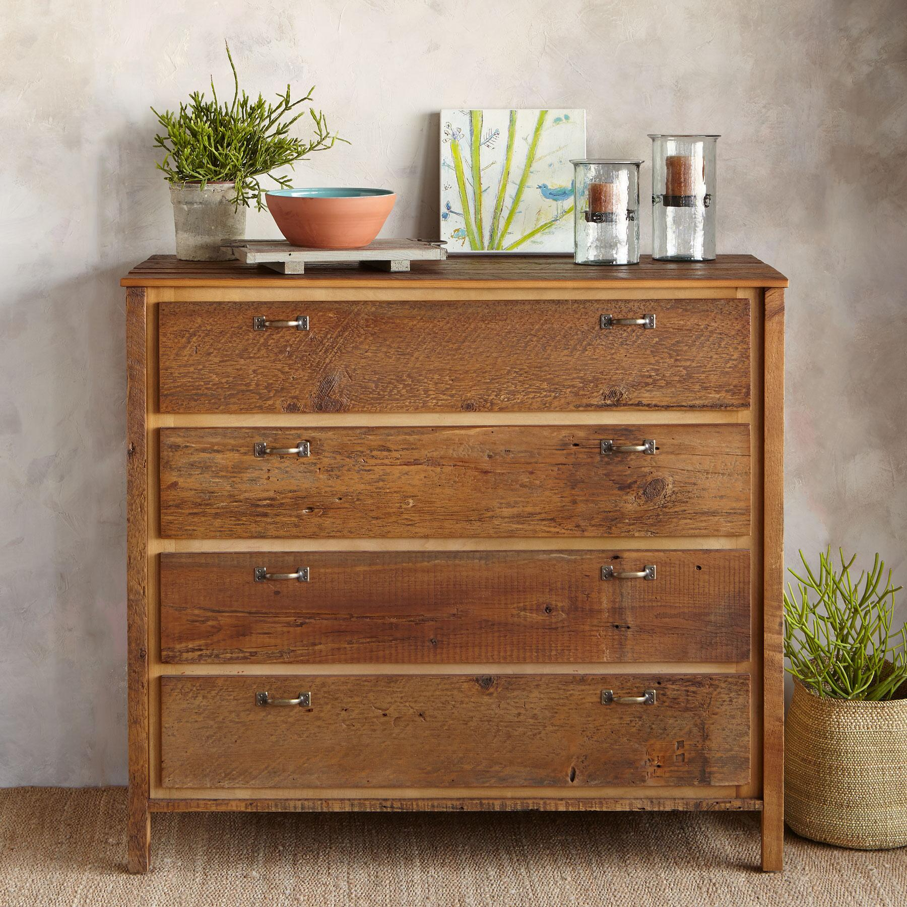 ANTIQUED PINE PROVENCE HIGH DRESSER: View 1