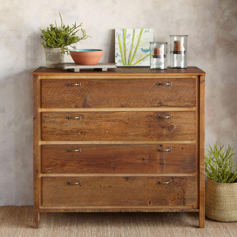 ANTIQUED PINE PROVENCE HIGH DRESSER