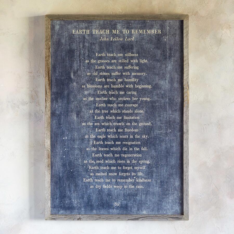 WORDS OF WISDOM PRINT - JOHN YELLOW LARK
