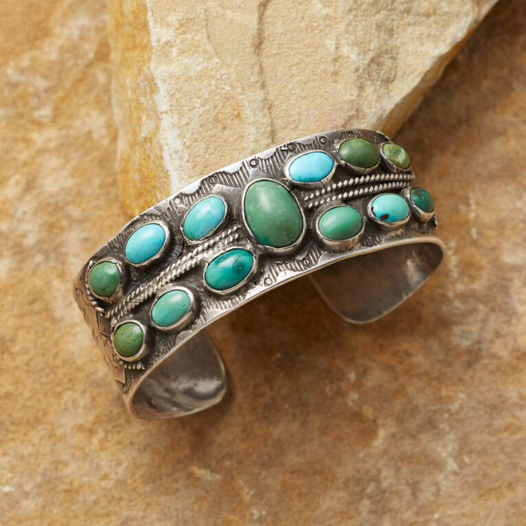 VINTAGE 1930'S TURQUOISE CUFF