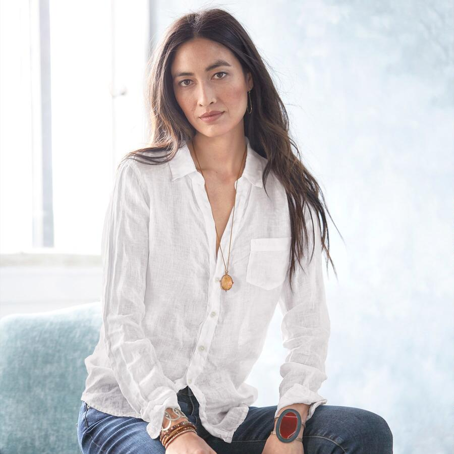 THE EVER COOL WHITE LINEN SHIRT