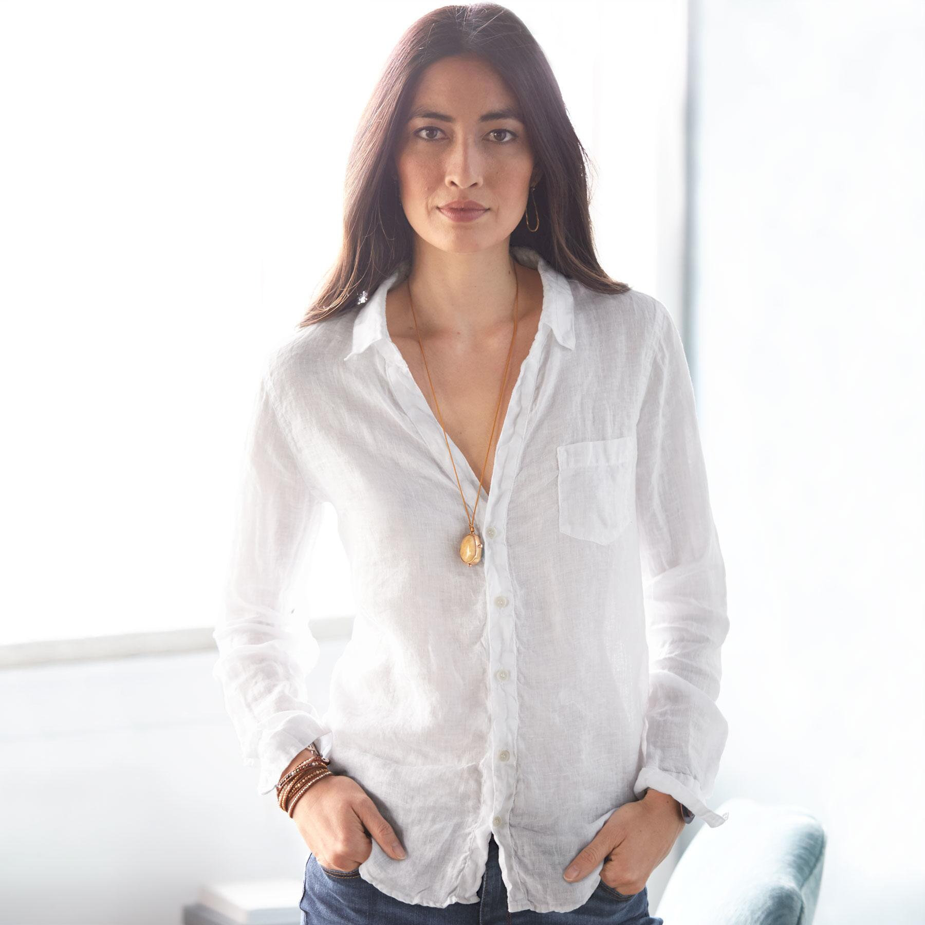 THE EVER COOL WHITE LINEN SHIRT: View 2
