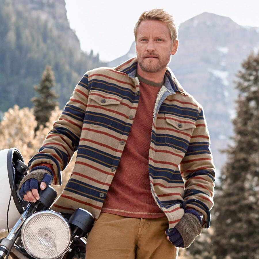 BAJA STRIPE SHIRT JACKET