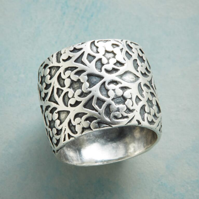 BOUNTIFUL STERLING BAND RING