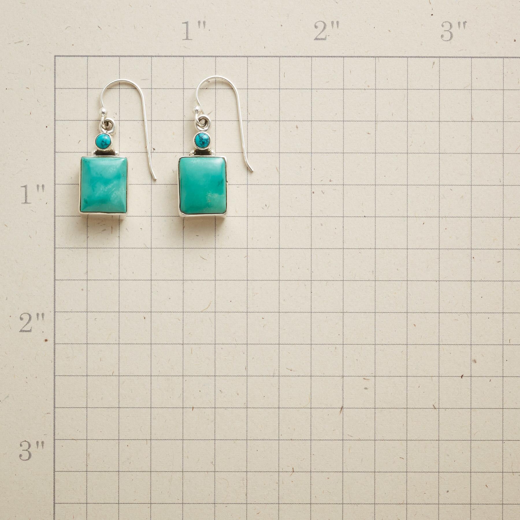 SQUARELY TURQUOISE EARRINGS: View 2