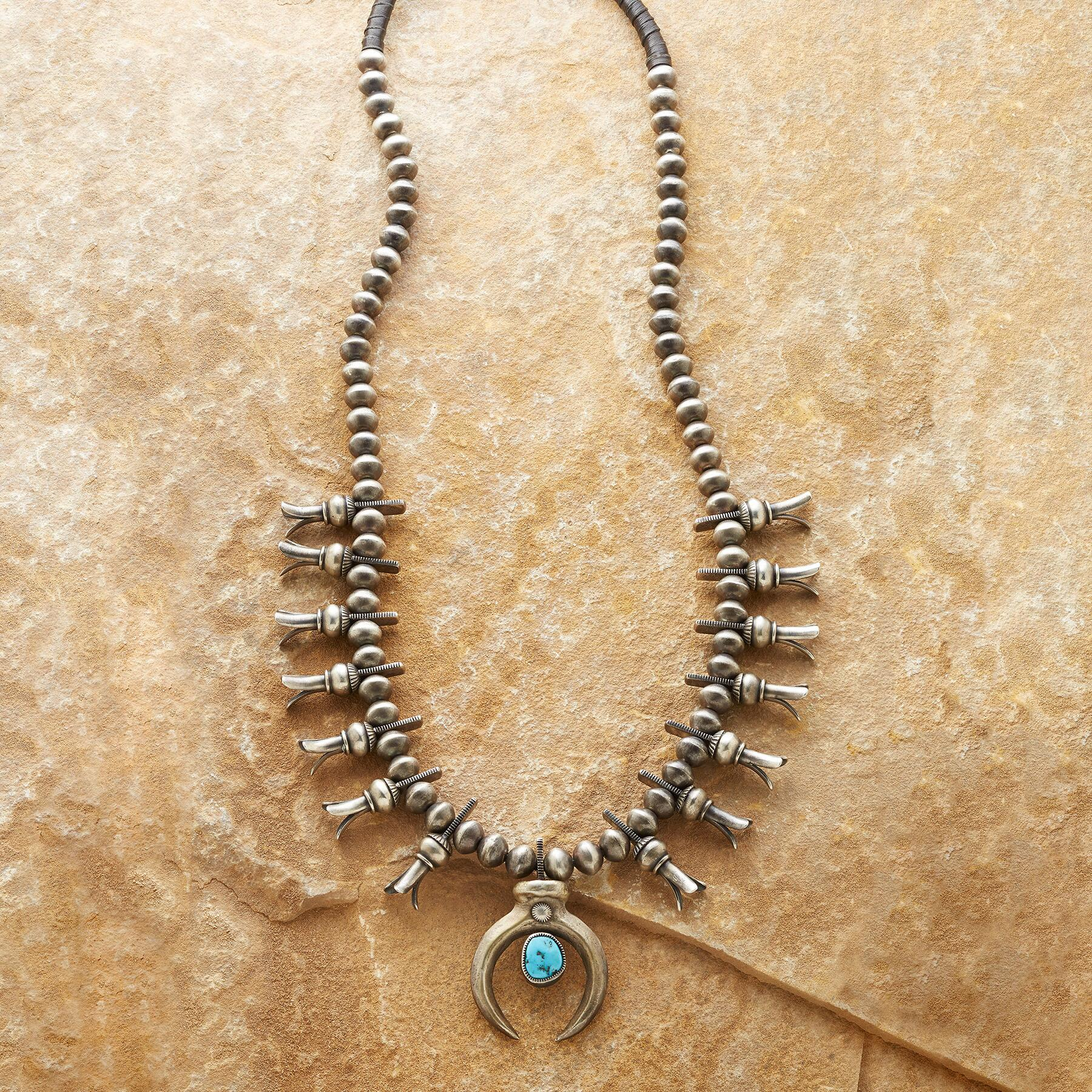 MODERN SQUASH BLOSSOM NECKLACE: View 1