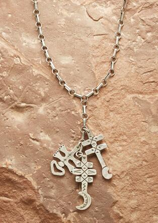 THREE CROSSES NECKLACE