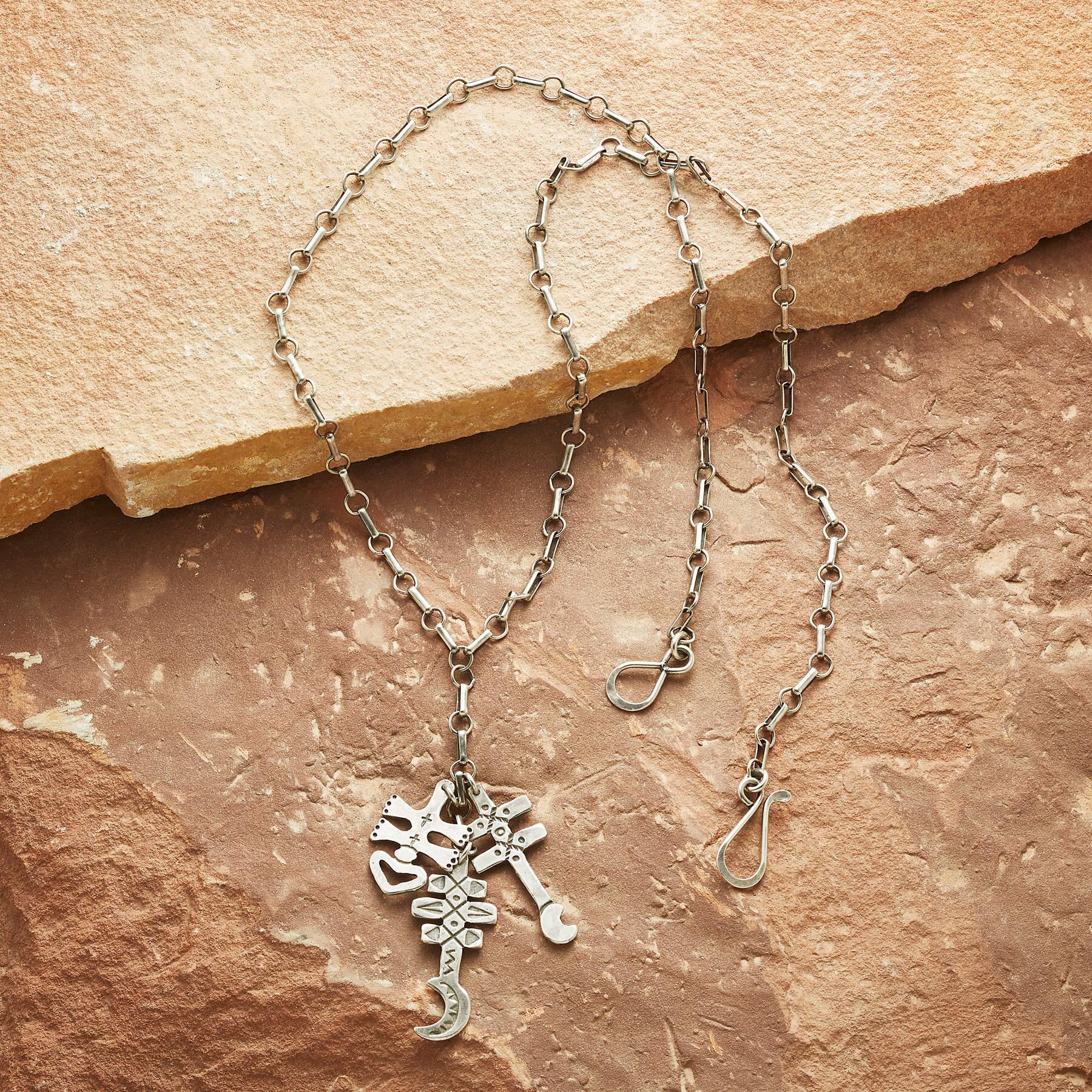 THREE CROSSES NECKLACE: View 2