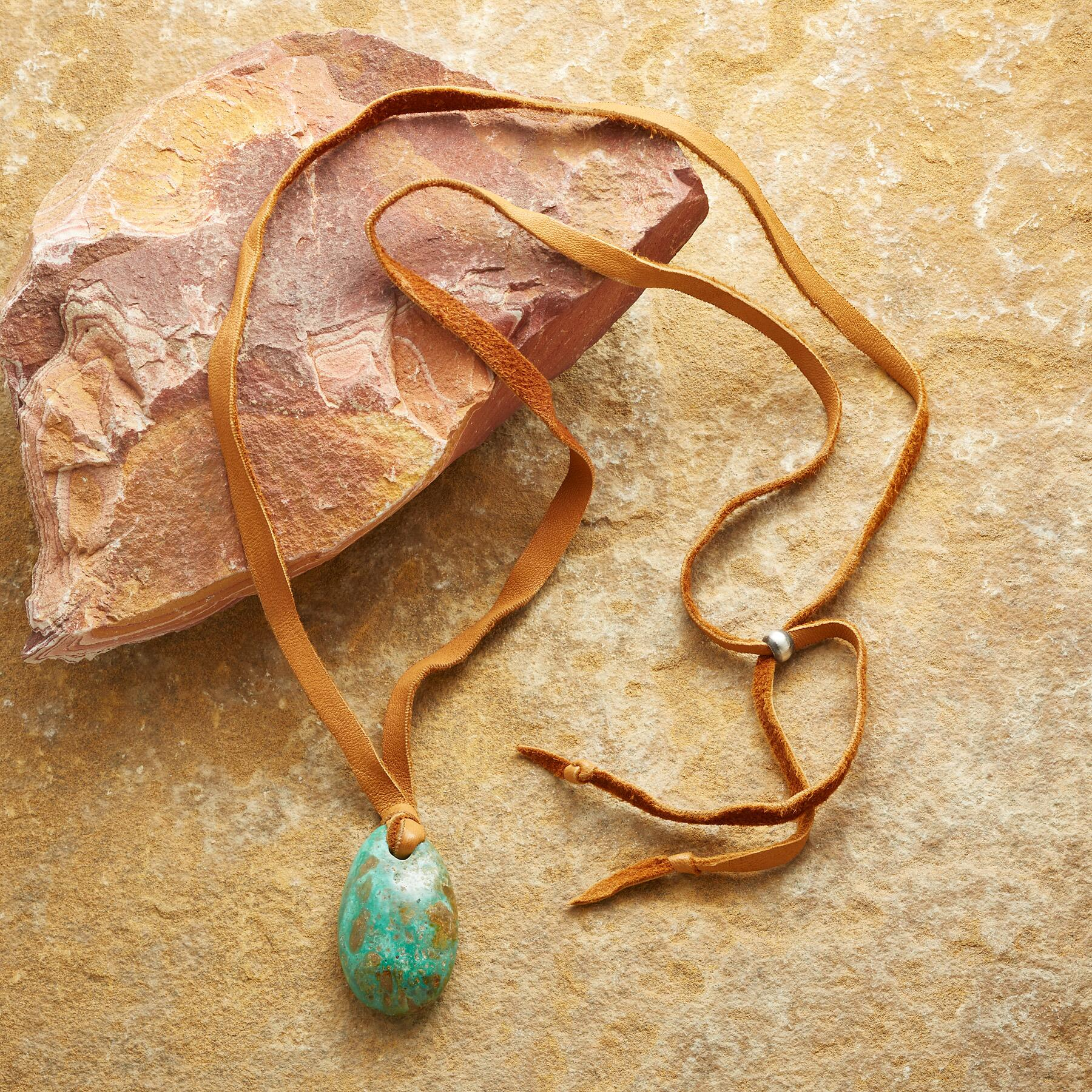 TETHERED TURQUOISE NECKLACE: View 2