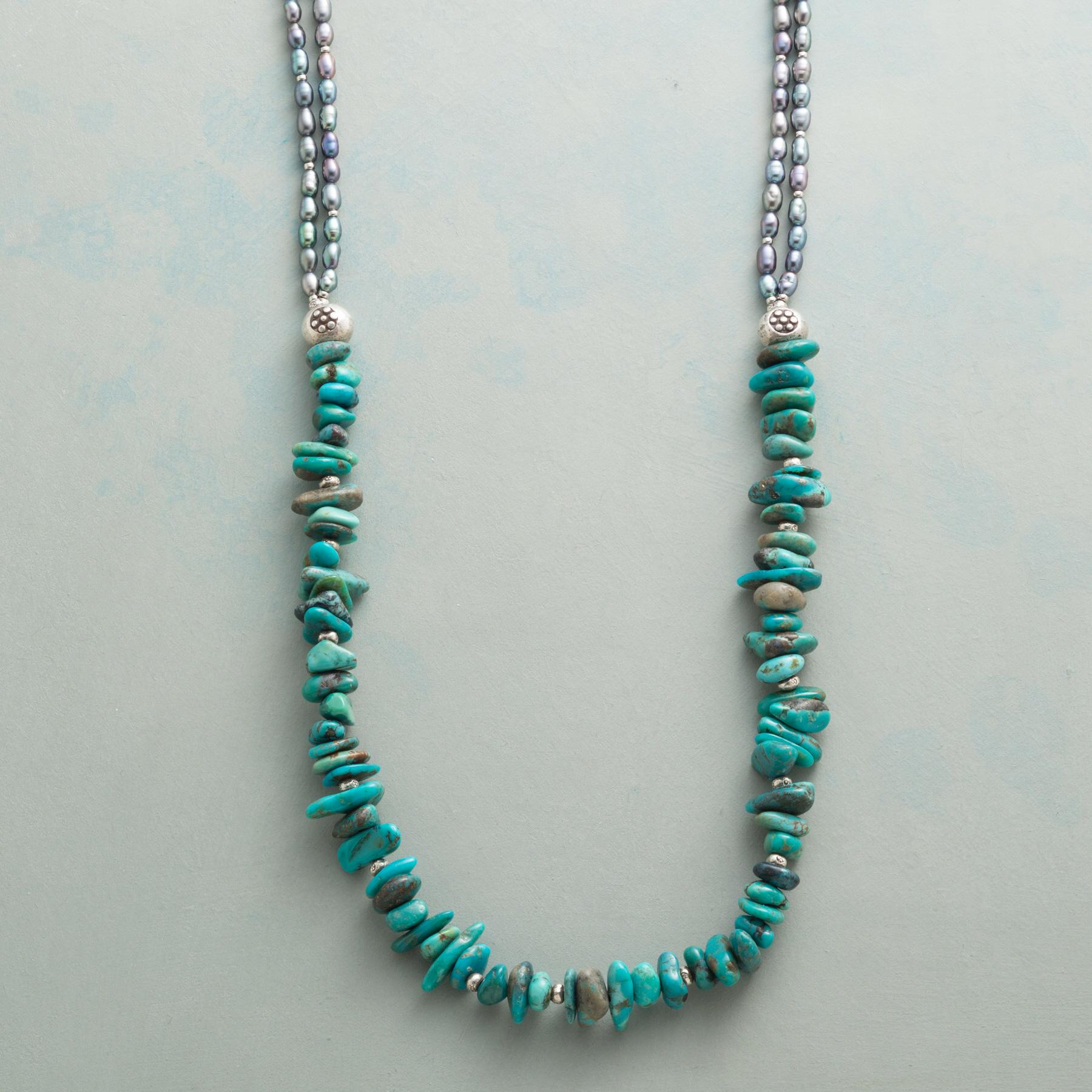 TURQUOISE CAIRN NECKLACE: View 1