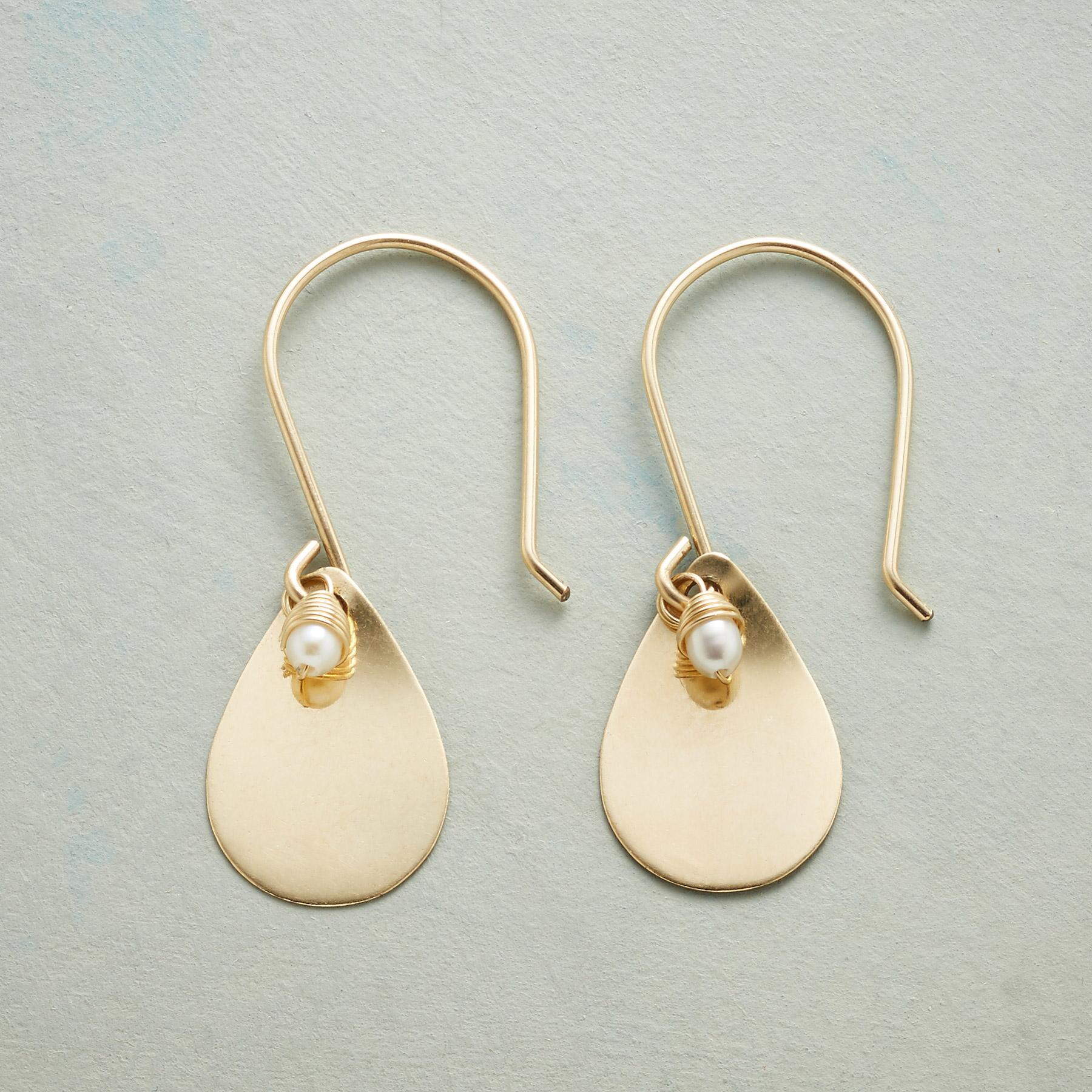 PETITE PEARL TEARDROP EARRINGS: View 1