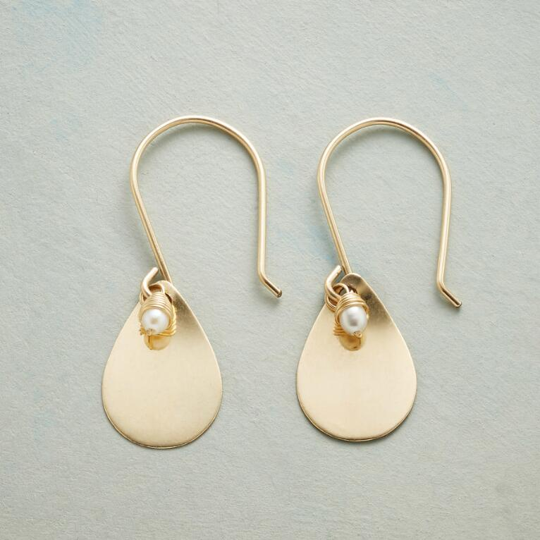 PETITE PEARL TEARDROP EARRINGS