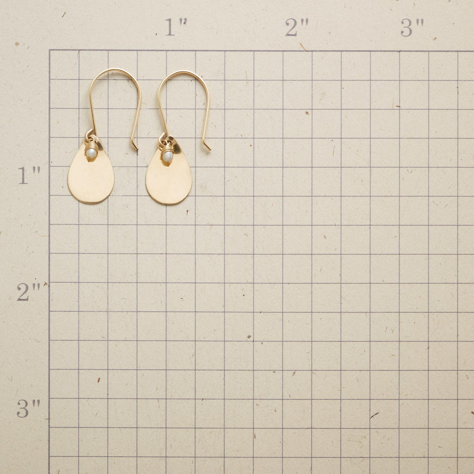 PETITE PEARL TEARDROP EARRINGS: View 2