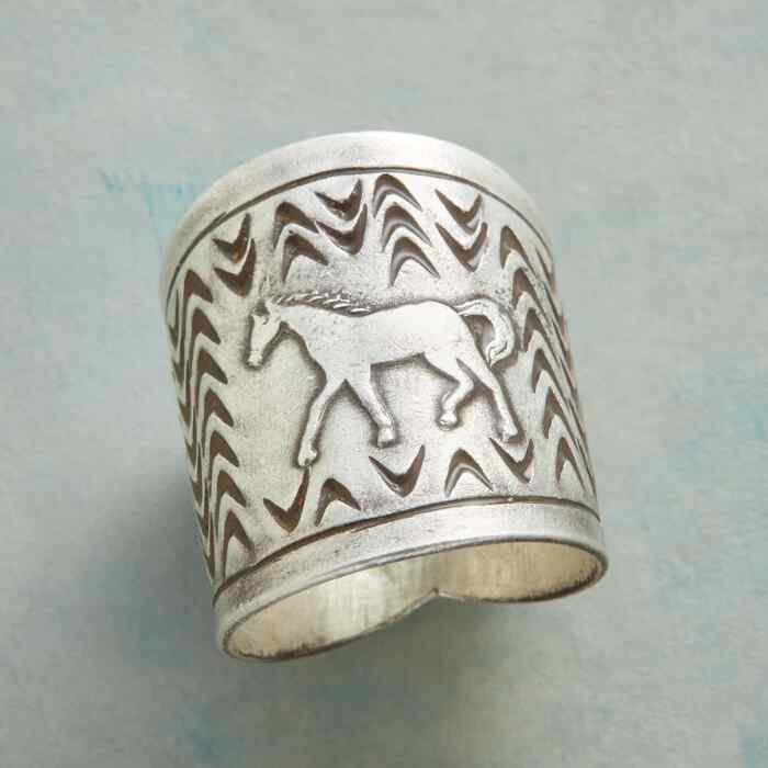 STERLING PONY RING