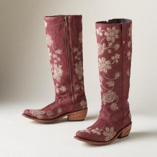 PRESSED BLOSSOM BOOTS