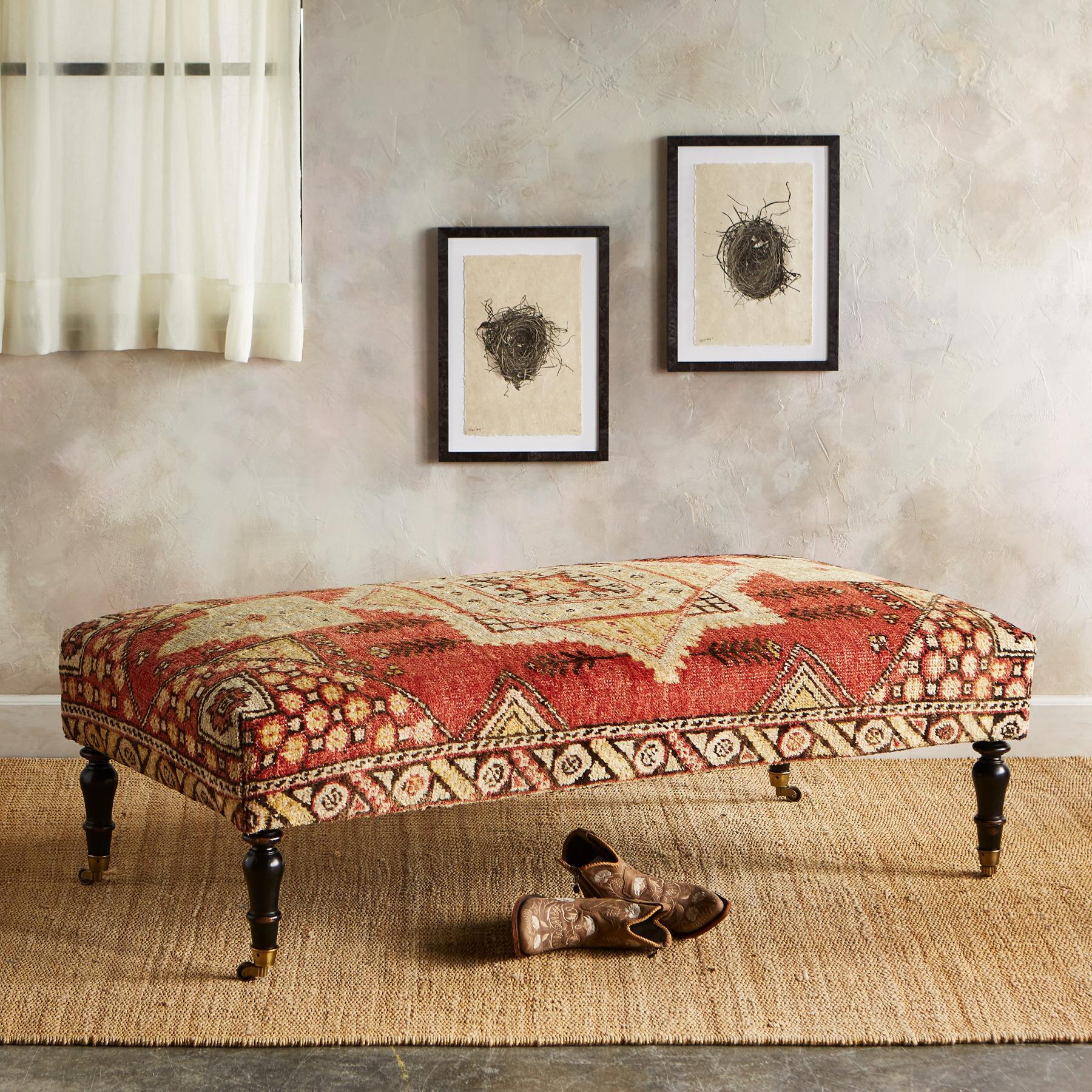 IZMIT TURKISH CARPET BENCH: View 1