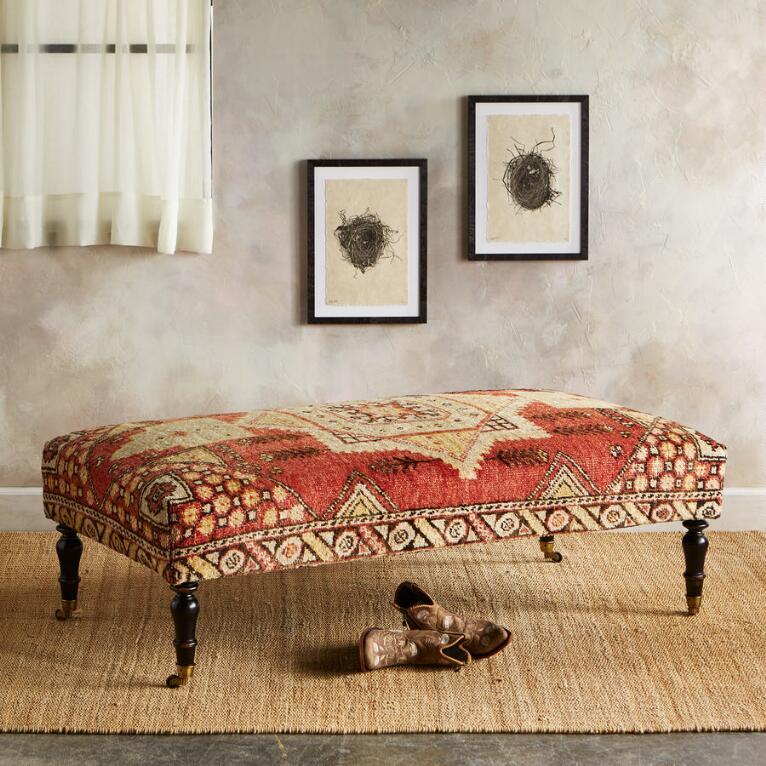 IZMIT TURKISH CARPET BENCH