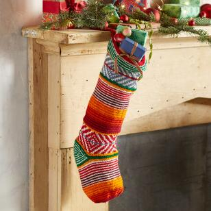 HEIRLOOM COLORFUL STRIPE STOCKING