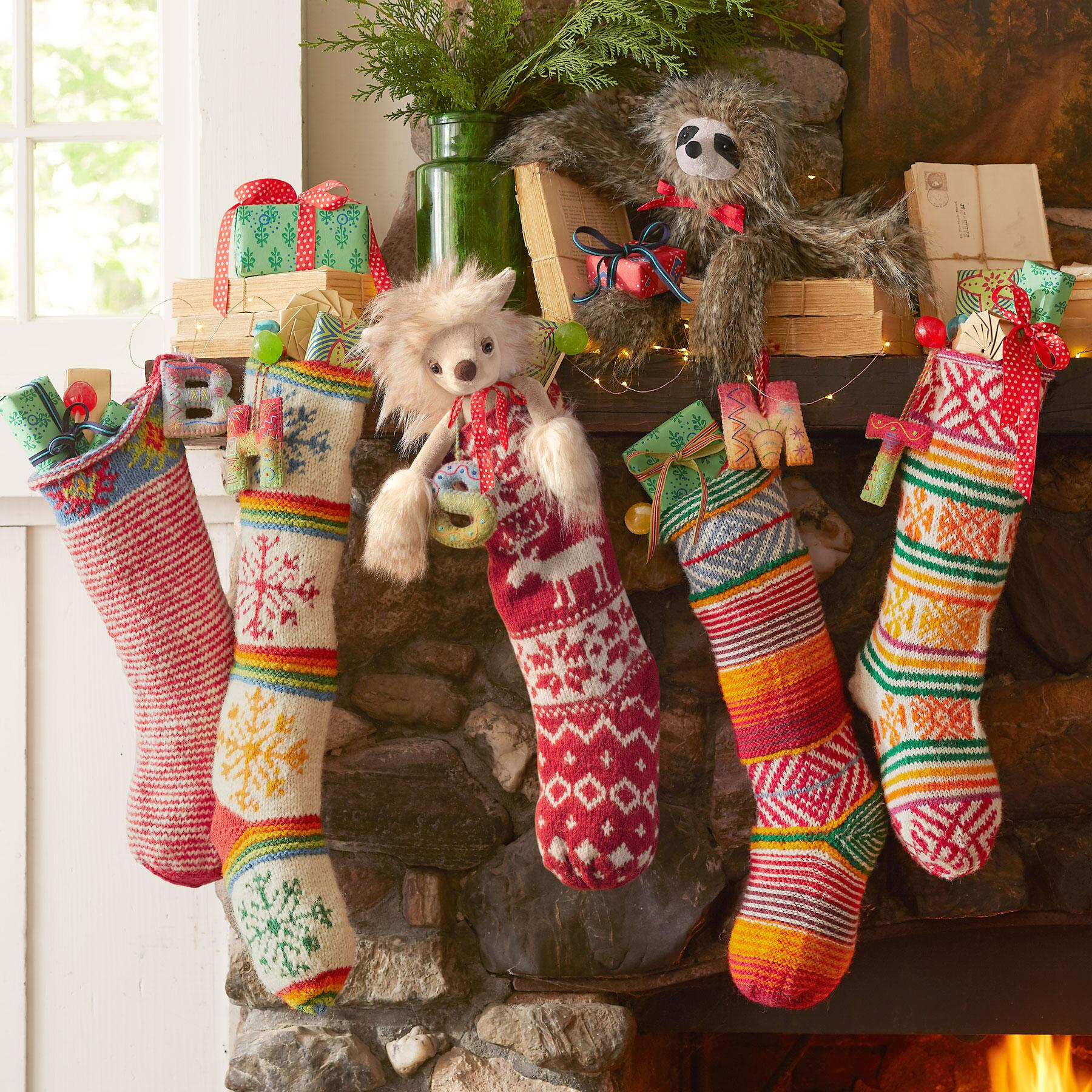 HEIRLOOM SNOWFLAKE & STRIPE STOCKING: View 2