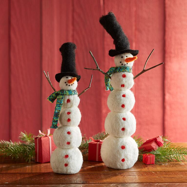 BRANCHED OUT SNOWMEN, SET OF 2