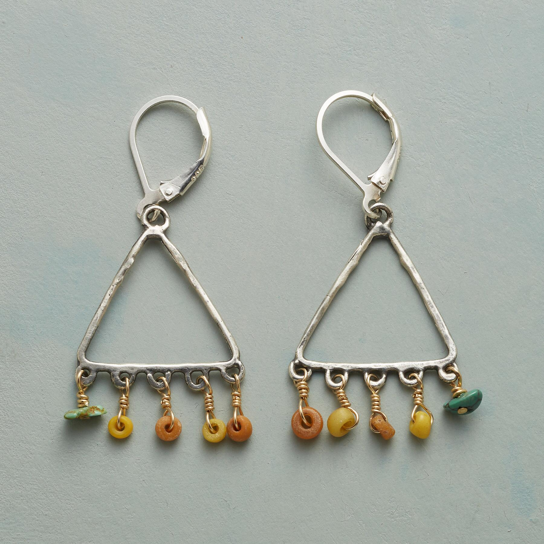 TRADER'S TRIANGLE EARRINGS: View 1