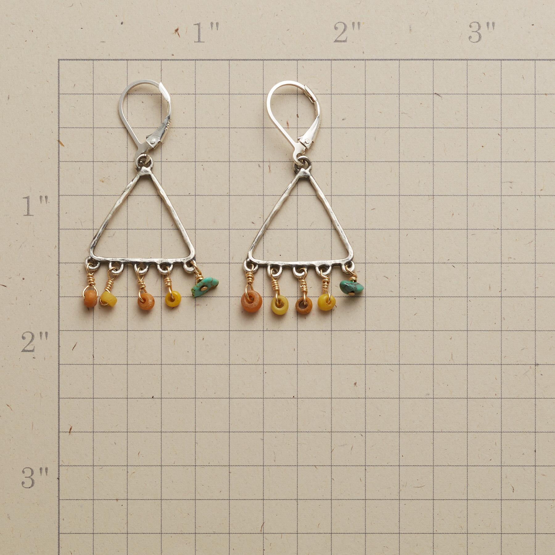 TRADER'S TRIANGLE EARRINGS: View 2