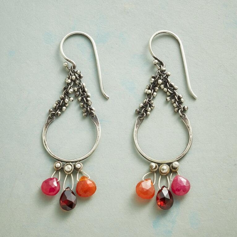 THREE EMBER EARRINGS