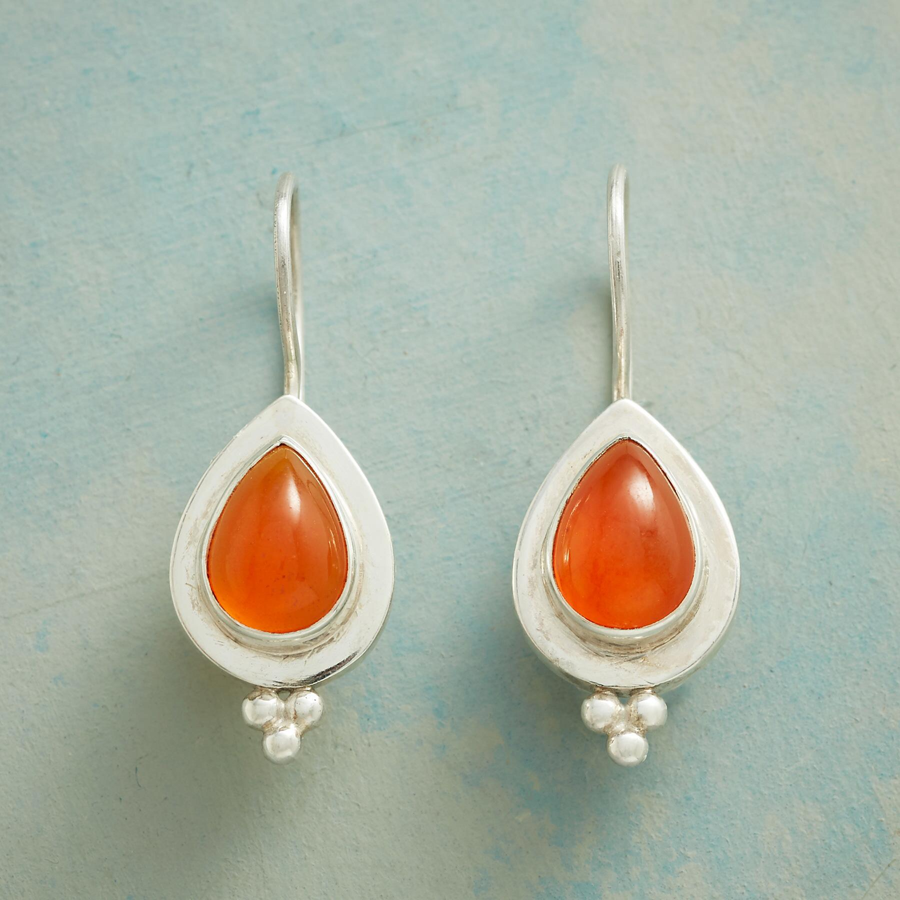 TANGY TANGERINE EARRINGS: View 1