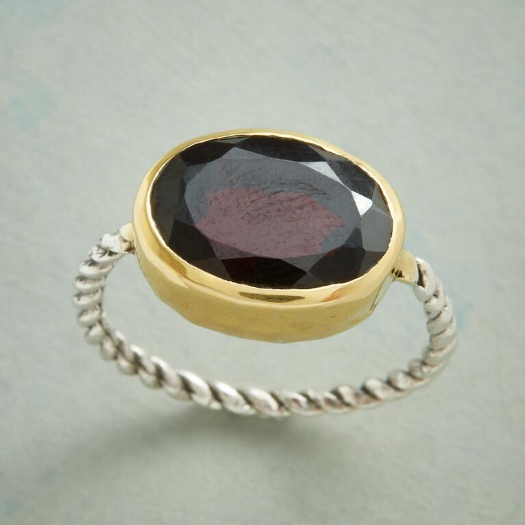 GARNET IN THE MIX RING