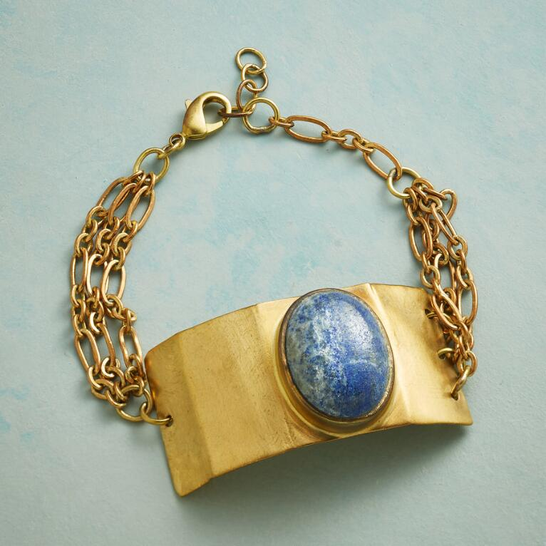 LAPIS SHIELD BRACELET