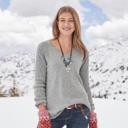 BELOVED CASHMERE PULLOVER - PETITES