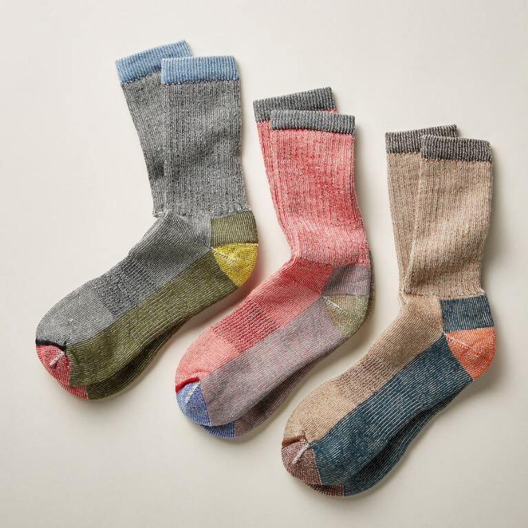 TEN MILE SOCKS, SET OF 3