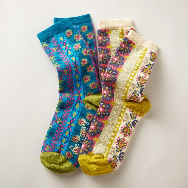 BLOOMING SUN SOCKS, SET OF 2