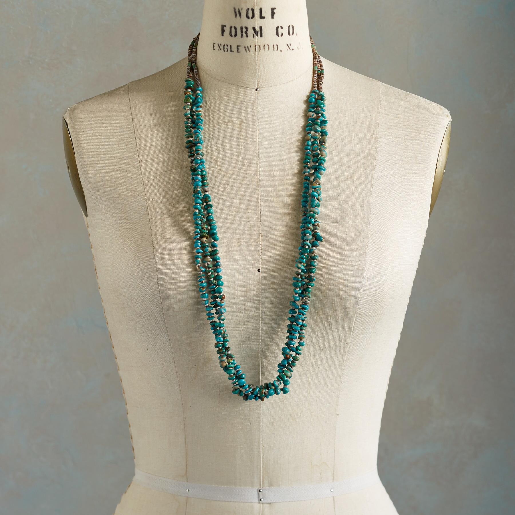 THREE-STRAND TURQUOISE NECKLACE: View 3